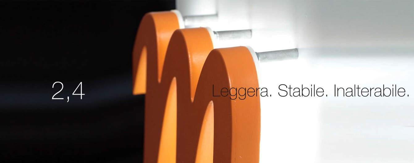 Le lettere luminose in 2.4 sono il prodotto storico di Sign Italia. Più leggere e maneggevoli di tutte le altre.