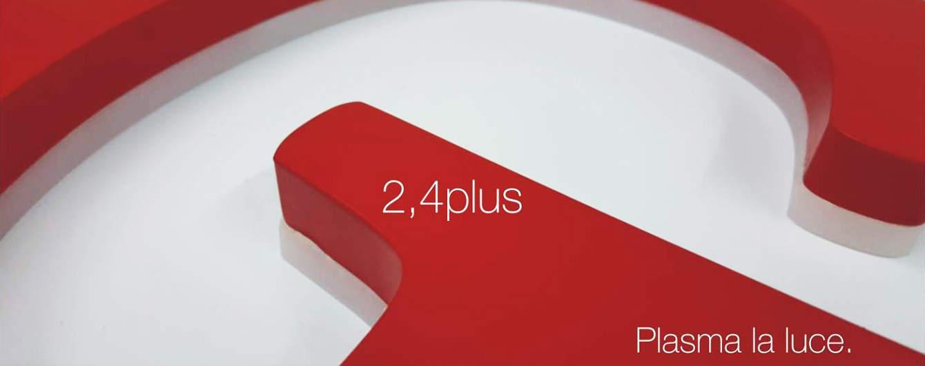 Le lettere lumionse 2.4 plus uniscono alla leggerezza una forza di luce maggiore della media per un ottimo risalto del marchio.