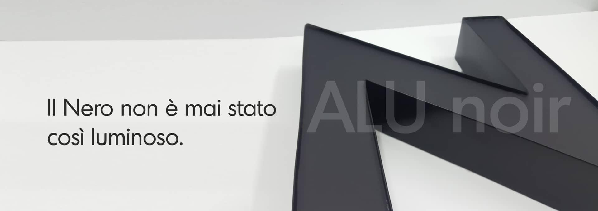 lettere scatolate nere
