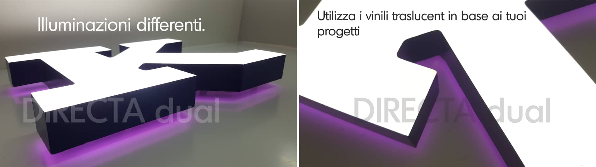 lettere luminose a led
