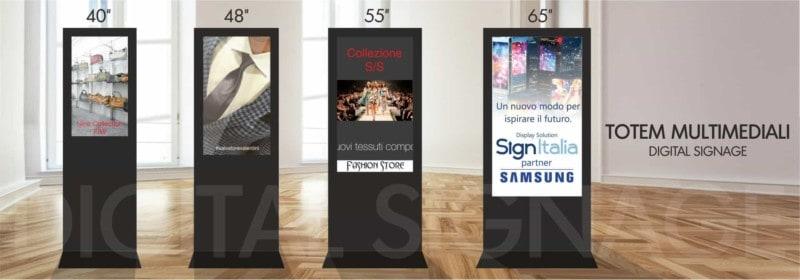 totem multimediali digital signage