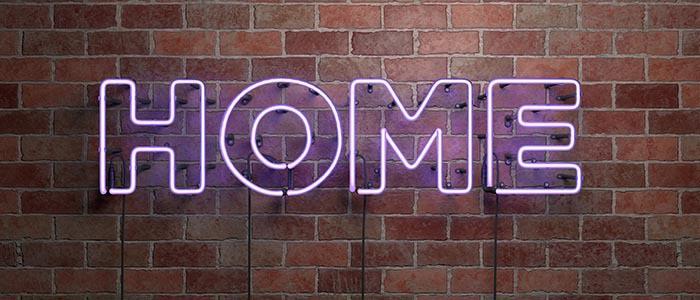 lettere luminose decorare casa